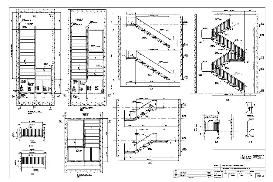 Stair Erection Drawing Samples